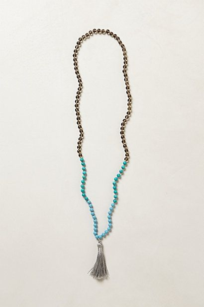 beaded plume necklace