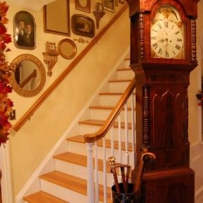 Naps on the Porch--Decorating a Staircase with Family Photos, Mirrors and Wall Shelfs