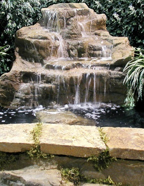Love this water feature backyard inspirations pinterest for Prefab waterfalls for ponds