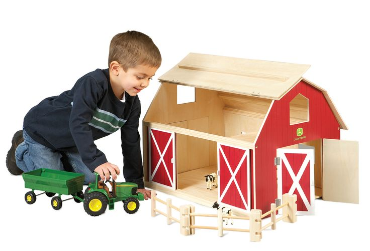 John Deere Big Wooden Barn | Kids | Pinterest