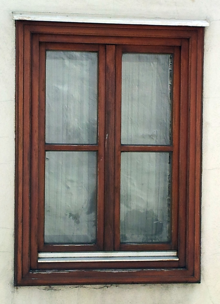 classic wooden window with brown frame | Windows | Pinterest