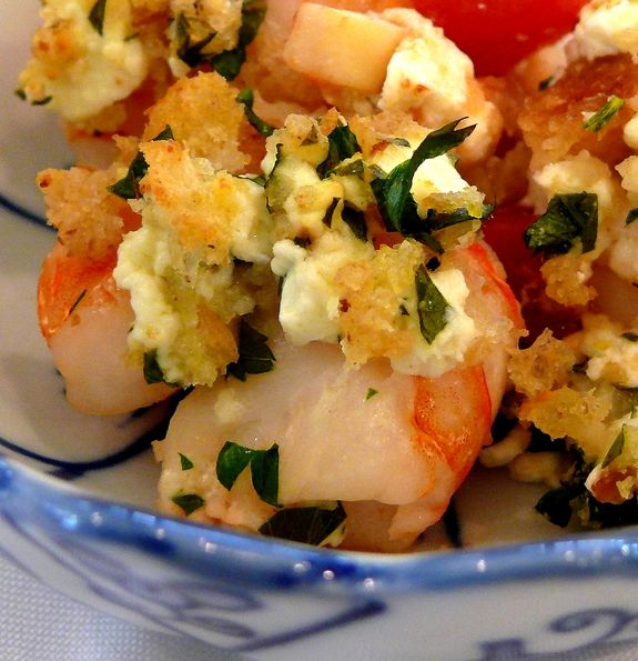 Dinner last night: Baked Shrimp w/Fennel & Feta. Wish there were ...