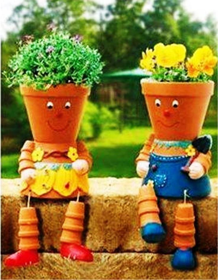 Cute Garden Planters Garden Pinterest