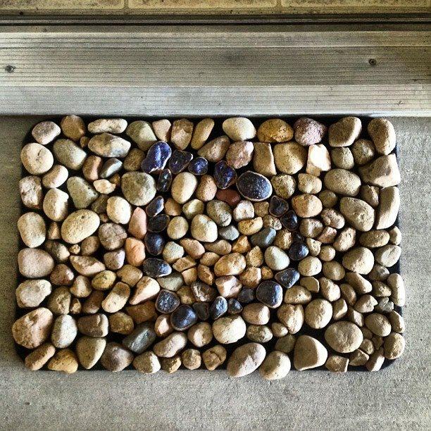 River rock door mat wannabe crafter pinterest for River stone doormat