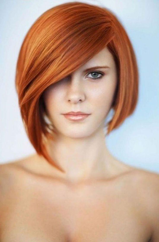 Асимметричная прическа на средние волосы фото