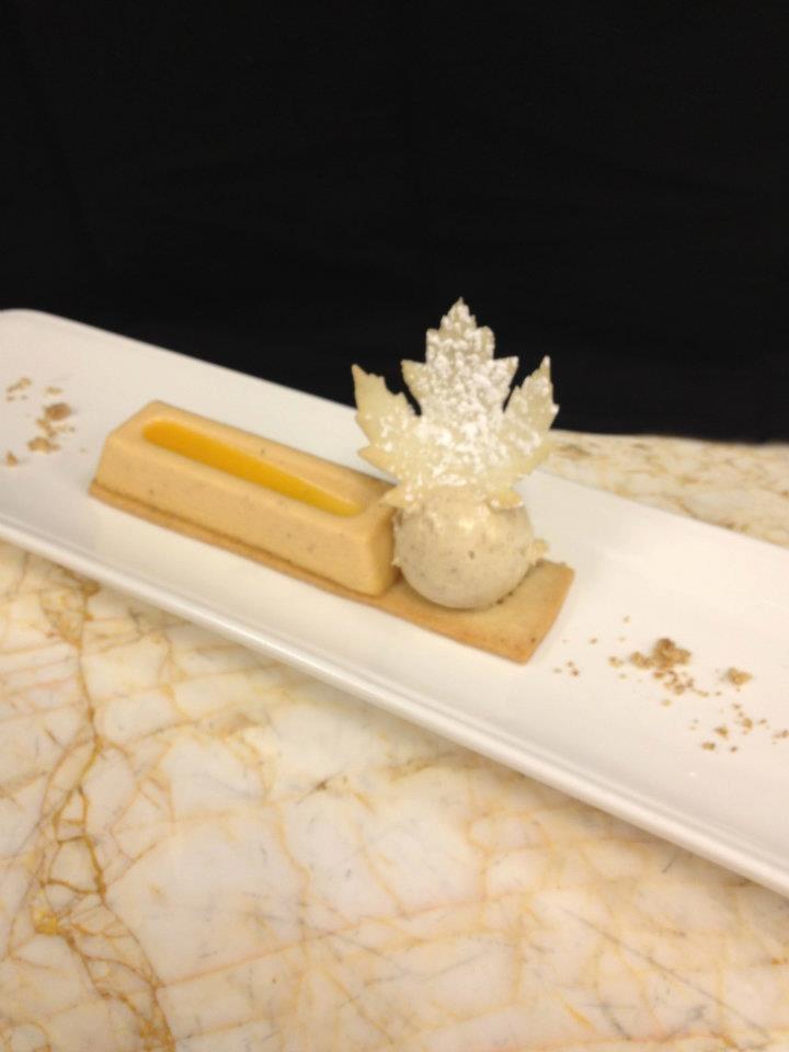 Pumpkin Cheesecake, orange gelee, toasted cinnamon ice cream (Las ...