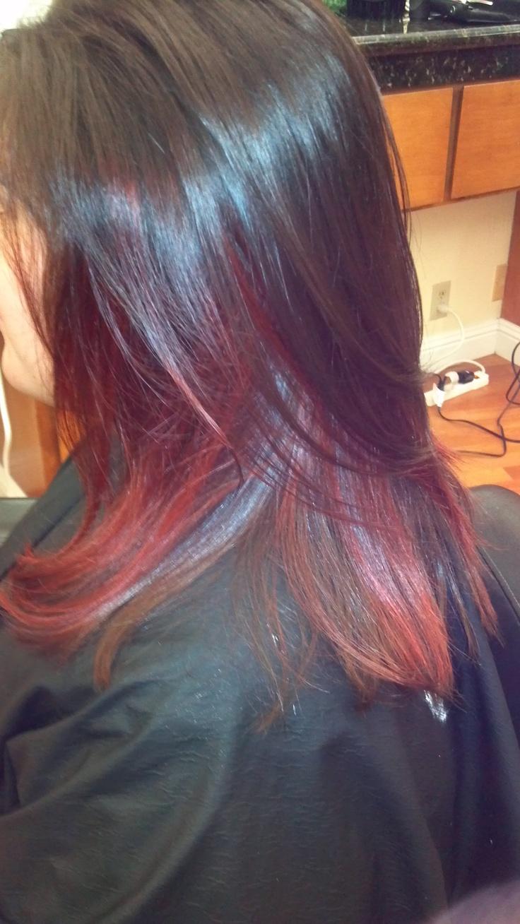 Peek A Boo Color Hair Pinterest Of Hair Color Ideas Peek A