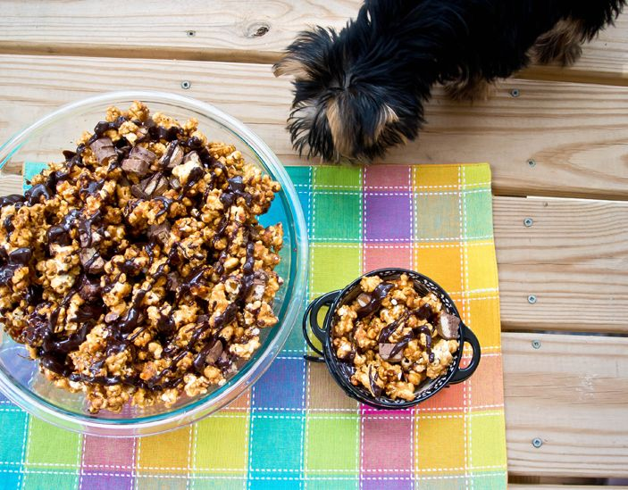 Chocolate & Caramel Twix Popcorn - Cooking with Mel - Cooking with Mel
