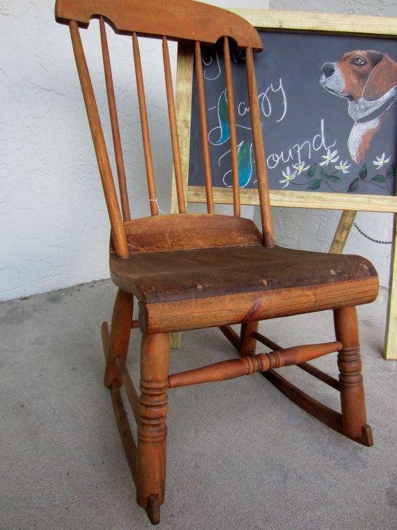 antique american nursing rocker rocking chair. Black Bedroom Furniture Sets. Home Design Ideas