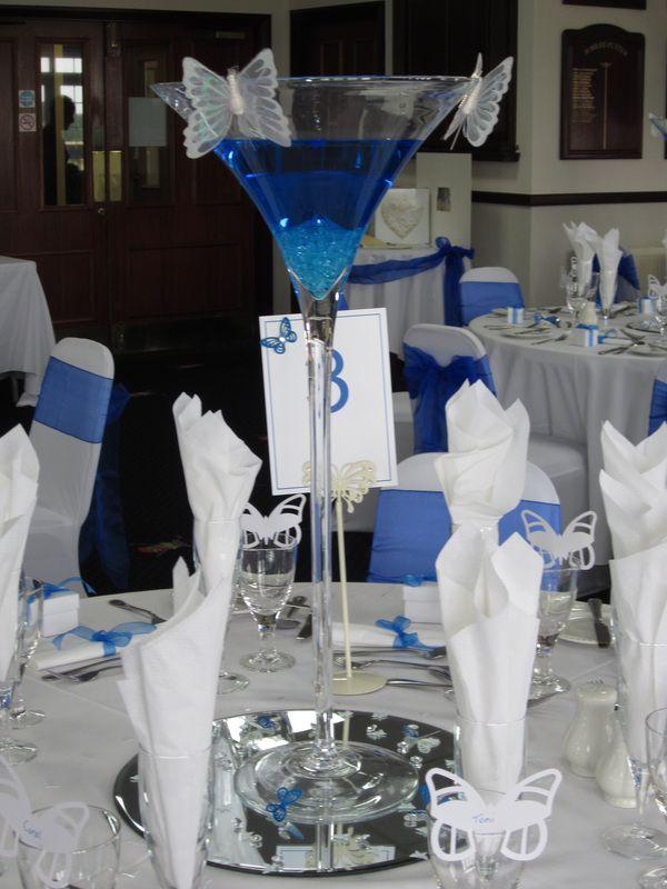 Martini Glass Centrepiece Manchester
