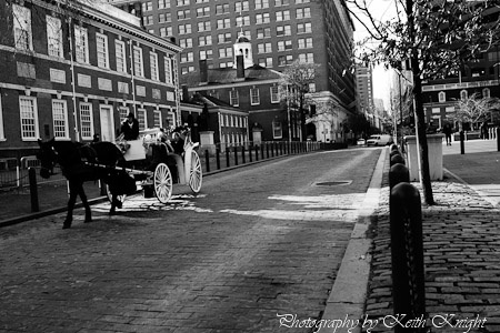 Set in front of Independence Hall in Philadelphia PA. One of my favorite photo's I took on my road trip back home in December 2011.