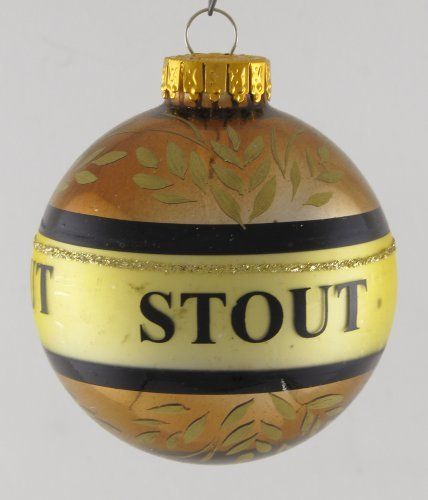 """Glass Ball Ornament - Stout Beer 2.5"""" by G & D, http://www ..."""