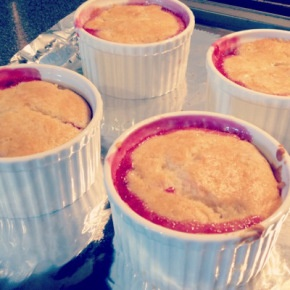 Mini Raspberry Cobblers with Vanilla Whipped Cream | In Real Life