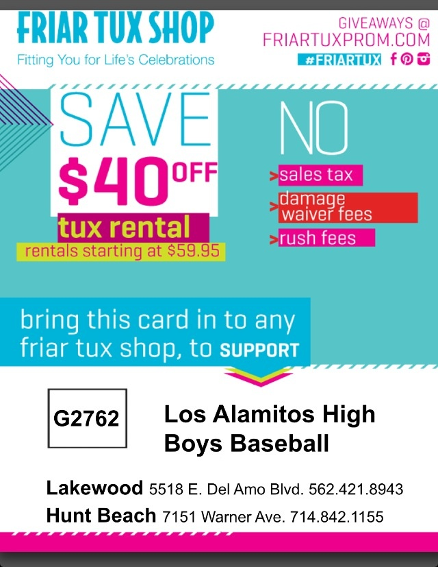 Coupons for tux rentals