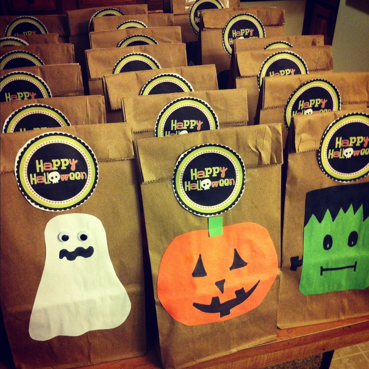halloween gift bags holiday decoration ideas pinterest