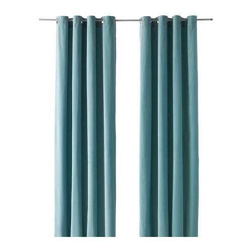 Ikea sanela curtains in light turquoise