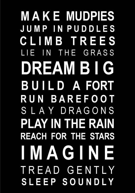 What i want to tell my kids to do...