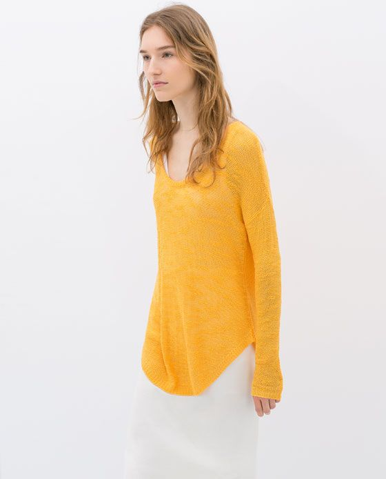 Image 4 of ROUND NECK SWEATER from Zara | Fashion related | Pinterest