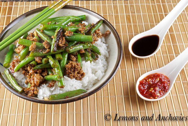 green beans fresh green beans one way sichuan chicken with green beans ...