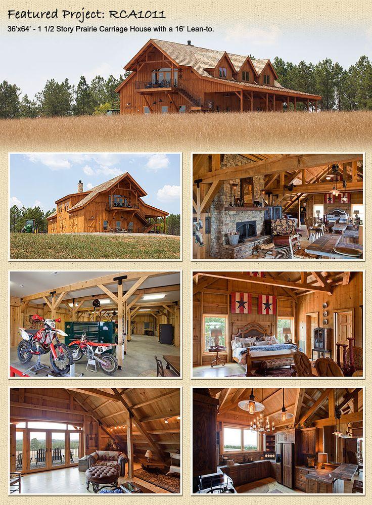 Post beam barn kits modular homes kit homes pinterest for Prefab barn house kit
