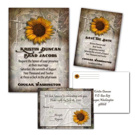 Camo Wedding Invitations Wedding Ideas Pinterest