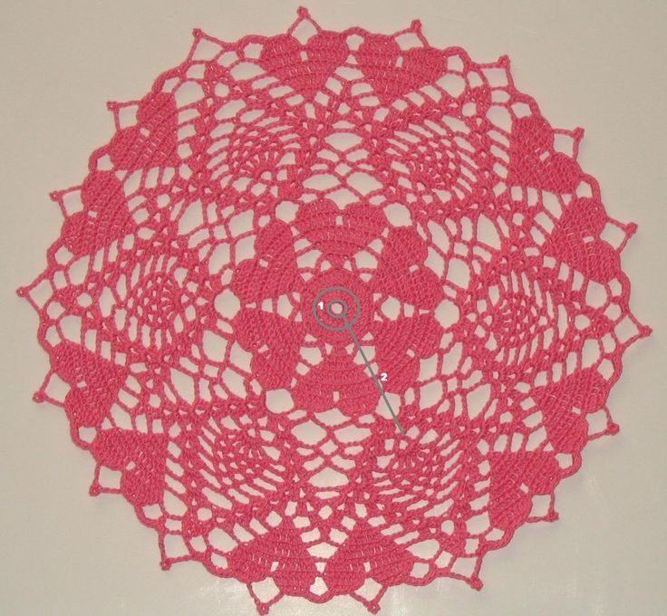 Free Crochet Pattern For Heart Doily : Heart Doily Doilies Pinterest