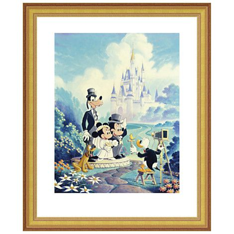 Mickey and minnie wedding walt disney world mickey mouse gicl 233 e
