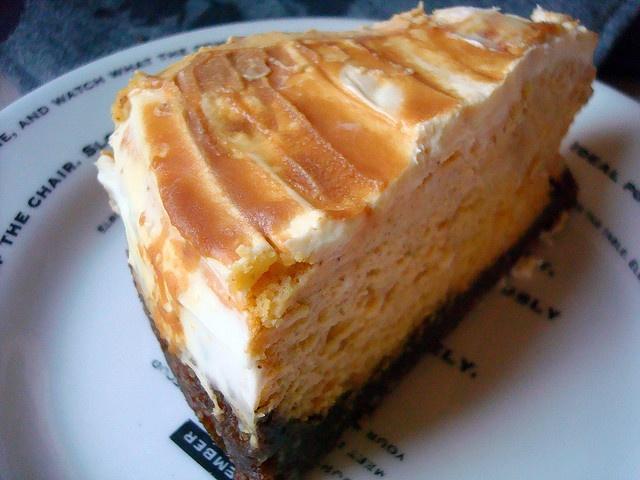 Pumpkin Cheesecake with Caramel Swirl and Gingersnap Crust Recipe