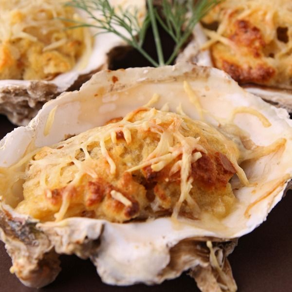Baked Oysters With Cheese Recipe! | Skinny Sweets Daily Community Boa ...