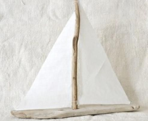 driftwood white sailboat, yes please