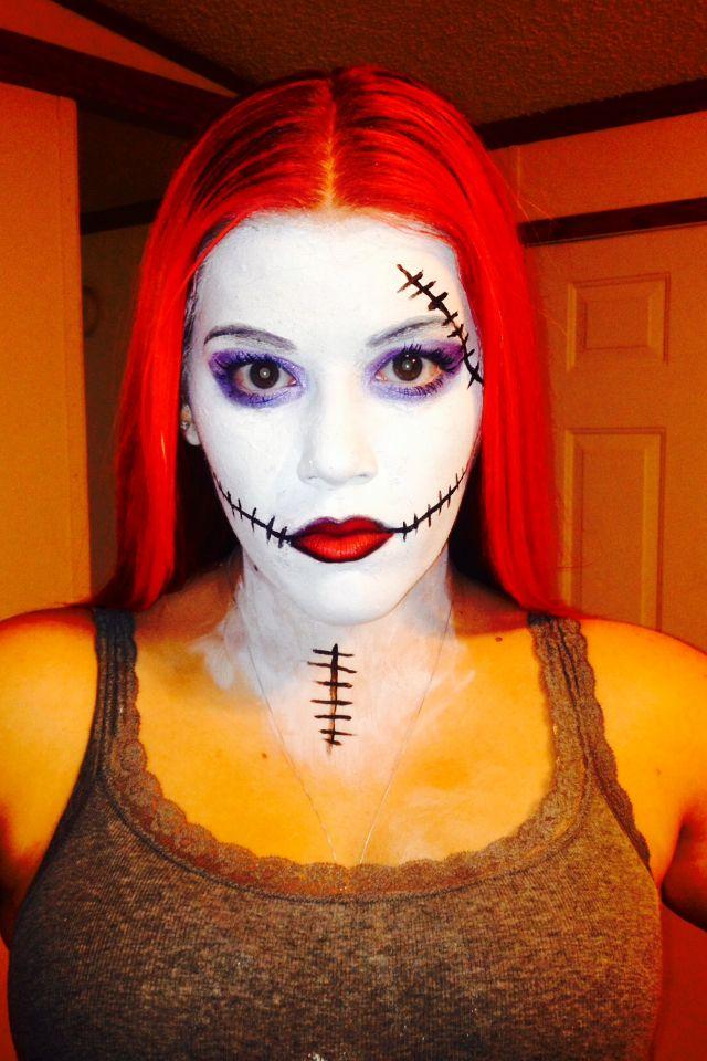 Sally makeup from nightmare before Christmas #sephoraselfie #halloween