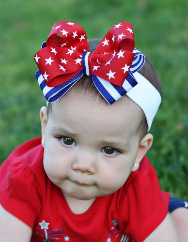 newborn baby girl fourth of july outfit