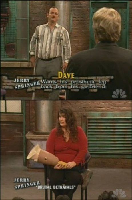 Pretty intense episode of Jerry Springer, lol.