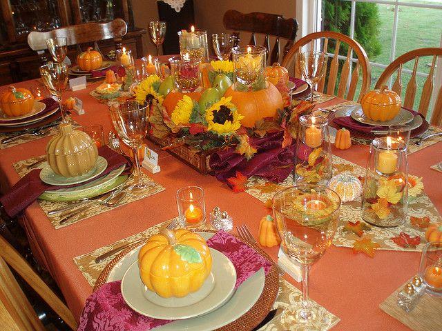 Thanksgiving table setting holiday ideas pinterest for Turkey dinner table settings