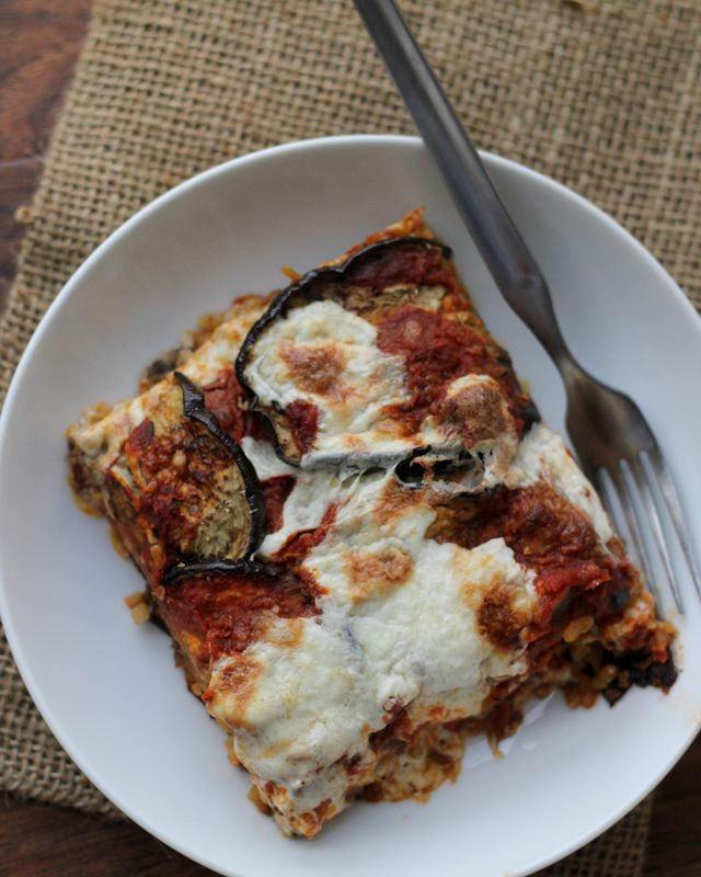 ... Eats Well With Others | Eggplant, Mozzarella and Saffron Rice Bake