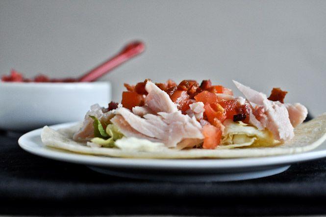 BLT Turkey Tacos with Cranberry Salsa | Recipe