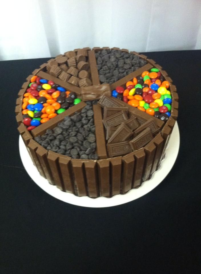 Candy bar cake. Cake Decorating Ideas Pinterest