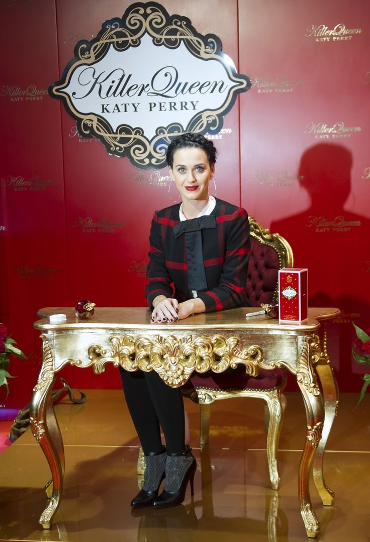 The killer queen awaits her royal subjects. Katy Perry debuts her new Killer Queen perfume on Sept. 25 in Berlin