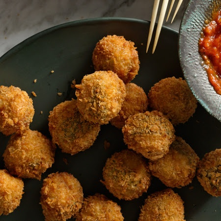 Ricotta and Sage Fried Meatballs   That's a spicy meatball   Pinterest