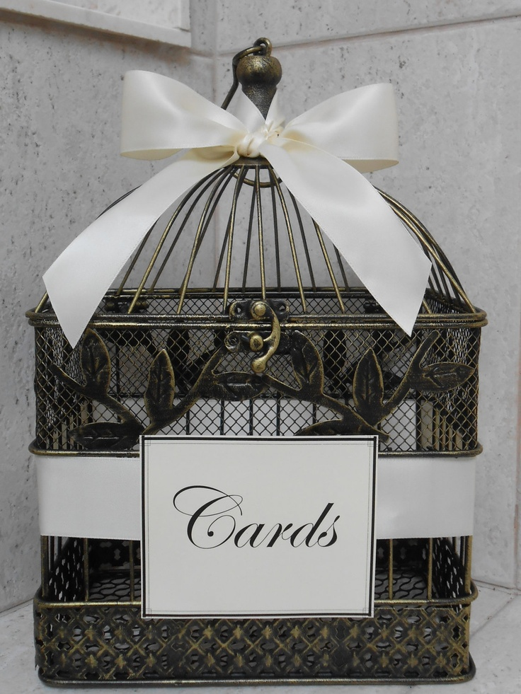Birdcage Wedding Card Holder / Vintage Style Birdcage Cardholder. $40.00, via Etsy.