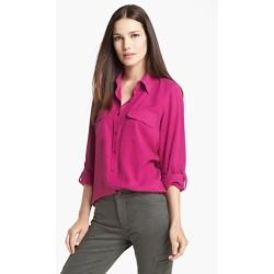 Stain Removal Wine Silk Blouse 76