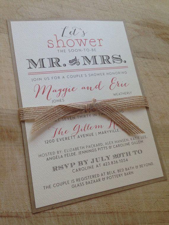 Couple 39 s wedding shower invitation for Wedding couples shower invitations