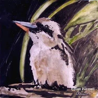 Kookabura by Burt Purmell, painting by artist Art Helping Animals