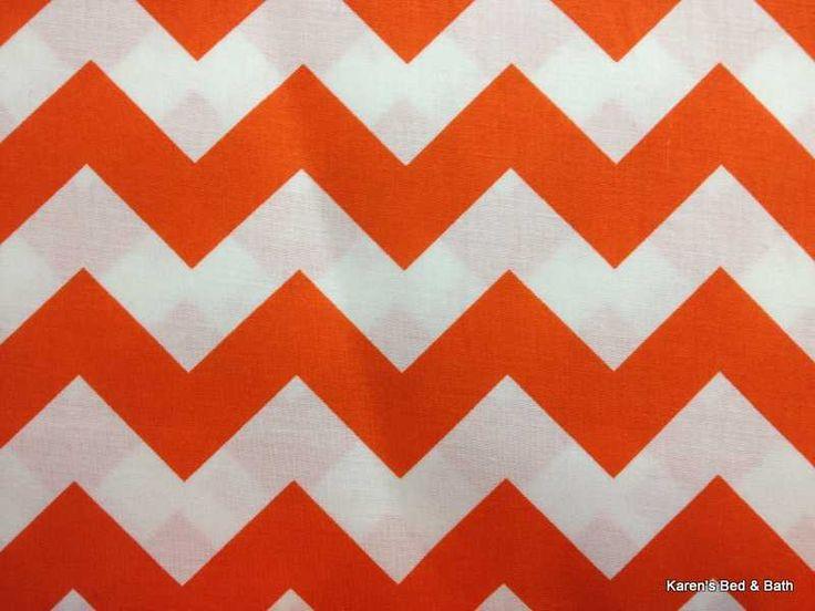 orange and white curtains | Bold Orange White Chevron Zigzag Stripe ...
