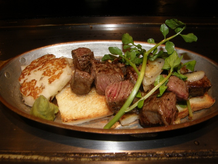 Kobe beef and lotus root ~