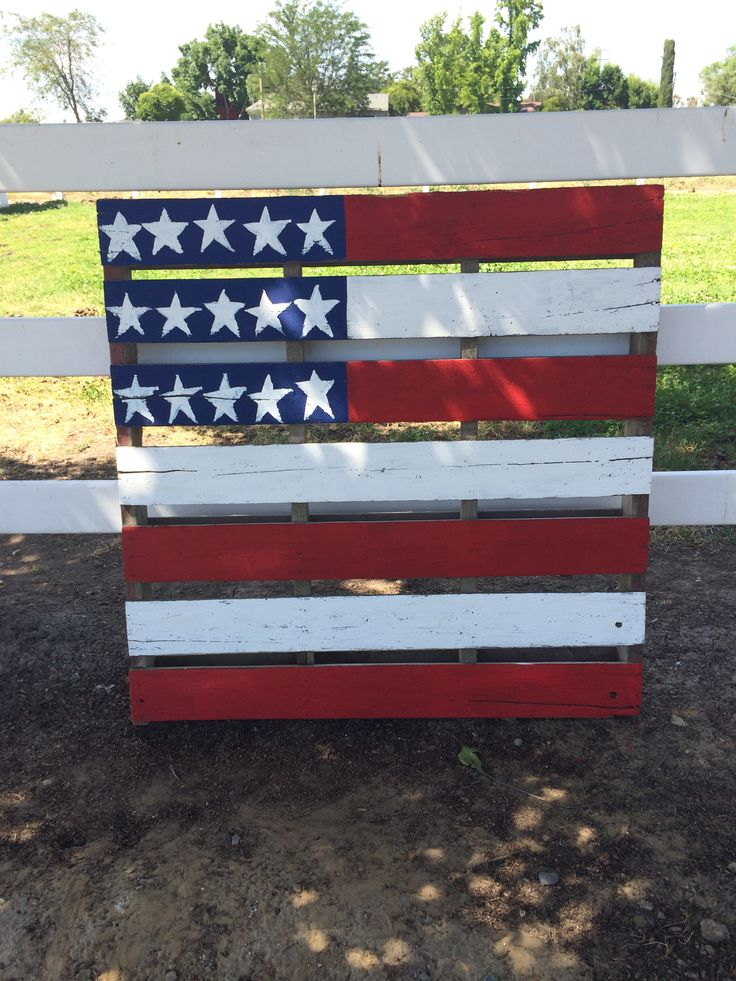 American flag painted pallet pallets wood projects for White painted pallets