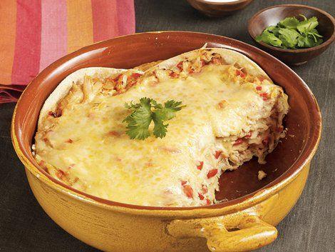 Tortilla Chicken Casserole - Tortilla chips layered with chicken ...