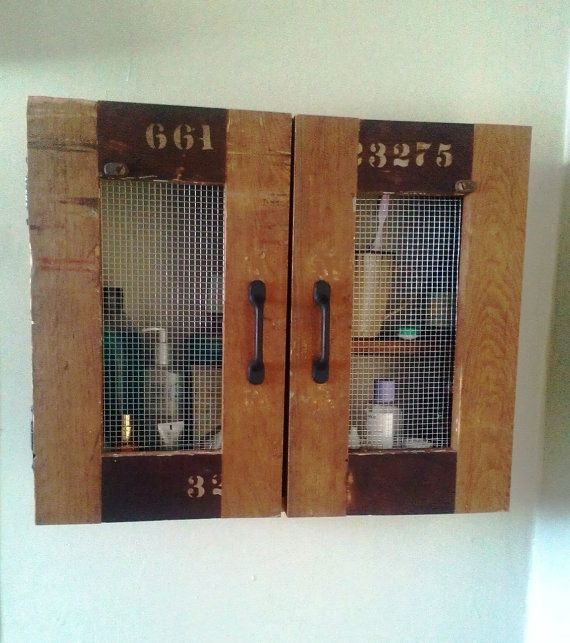 custom wall cabinet bathroom cabinet distressed wood by jrustic 185