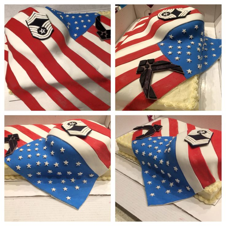 American flag cake | Party cakes | Pinterest