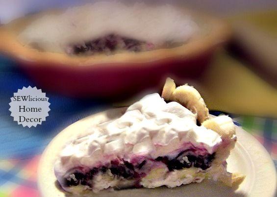 ... pie recipes. Blueberry Banana Cream Pie-3 Ingredients-No bake pie